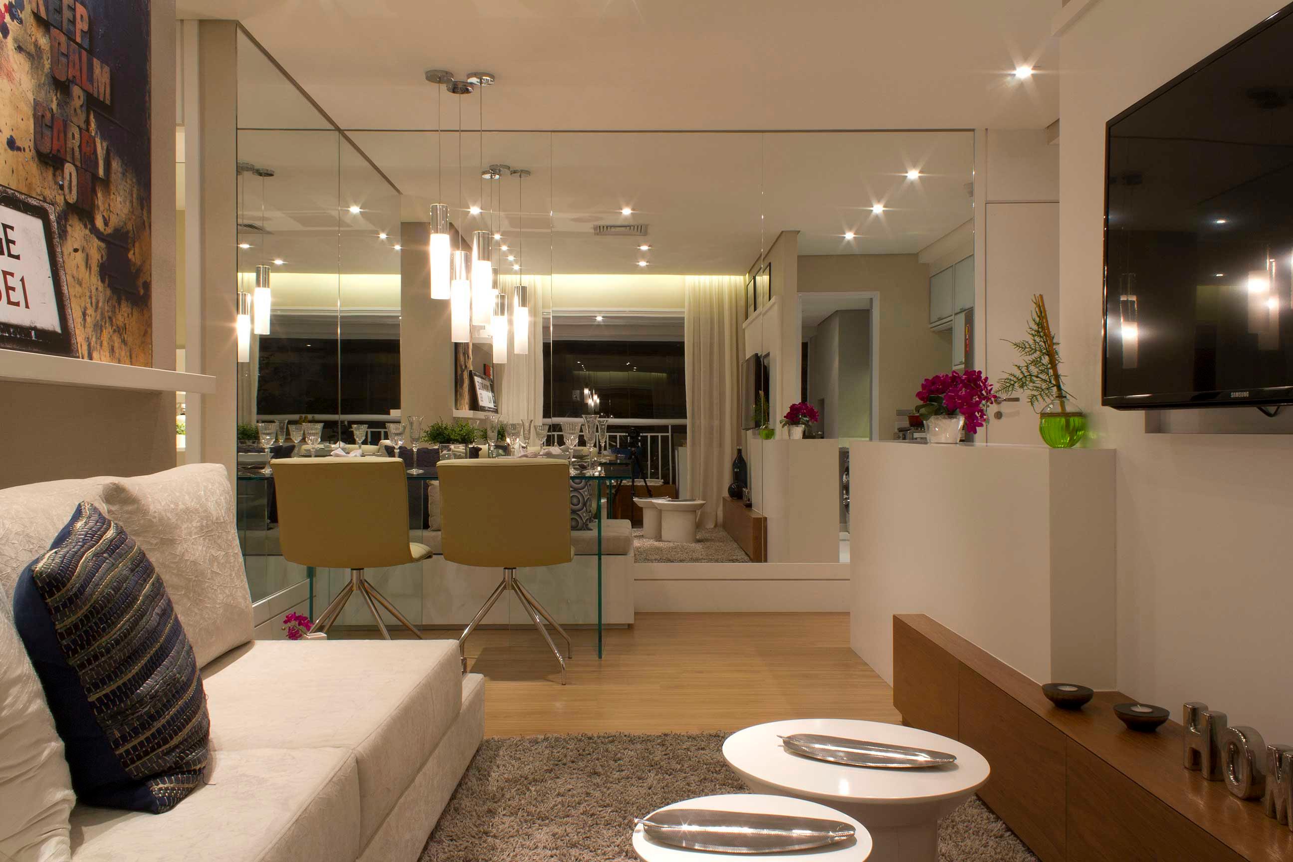 Mais Espa O Conhe A Pequenos Truques Para Deixar Seu Apartamento  -> Lustres Para Sala De Apartamento Pequeno